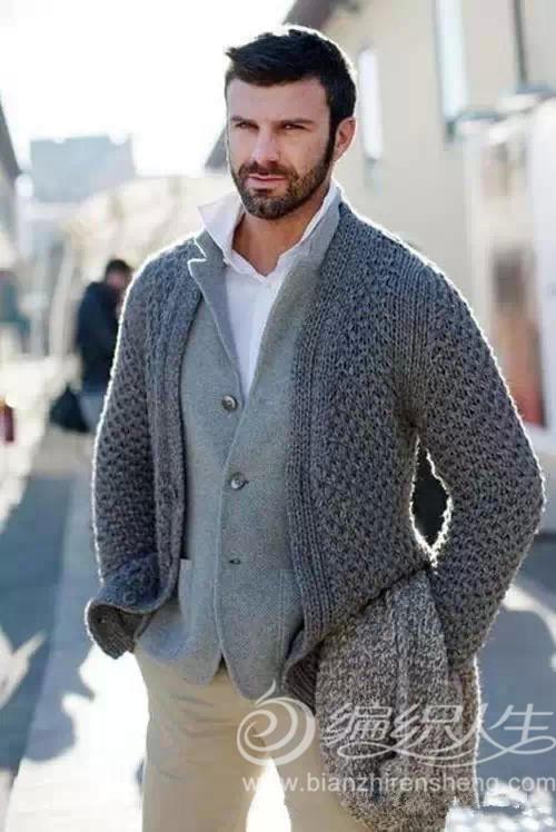 男士毛衣搭配