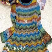 如画 棒针编织宽松长袖裙衣