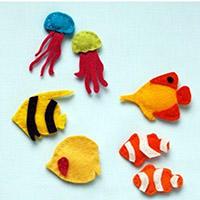 海洋生物不织布小吊坠手工教程