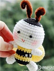 钩针蜜蜂玩偶玩具图解教程