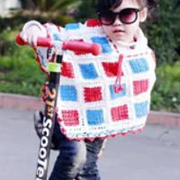 时尚女宝宝钩针编织拼花斗篷视频教程
