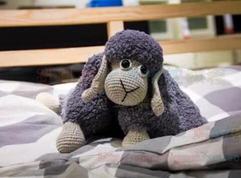 钩针编织趴趴羊玩偶抱枕视频教程