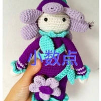 钩针人偶之花朵娃娃玩偶玩具文字教程
