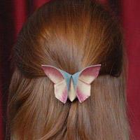 蝴蝶发卡手工制作教程