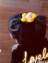 扮靓巧制作简单秀气女童钩针花朵小头花