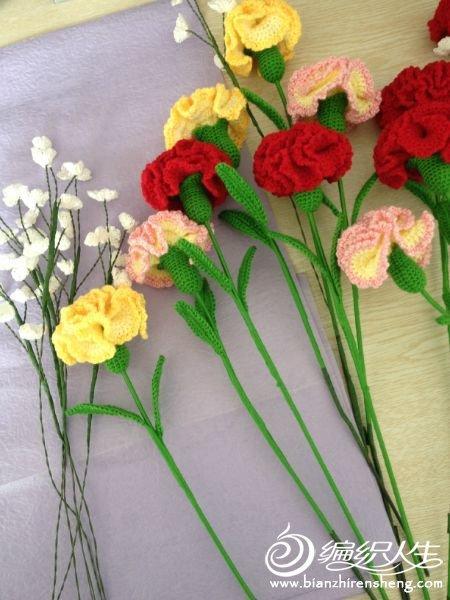 手工编织花