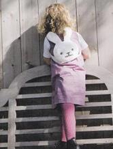 儿童钩针小兔双肩背包