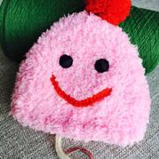 孩子设计妈妈织 棒针珊瑚绒可爱钥匙包