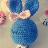 钩针编织可爱饭团兔玩偶玩具视频教程