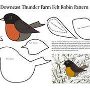 两只小鸟不织布图纸制作