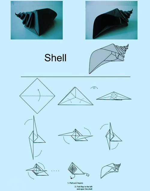 小海螺手工折纸教程-编织人生