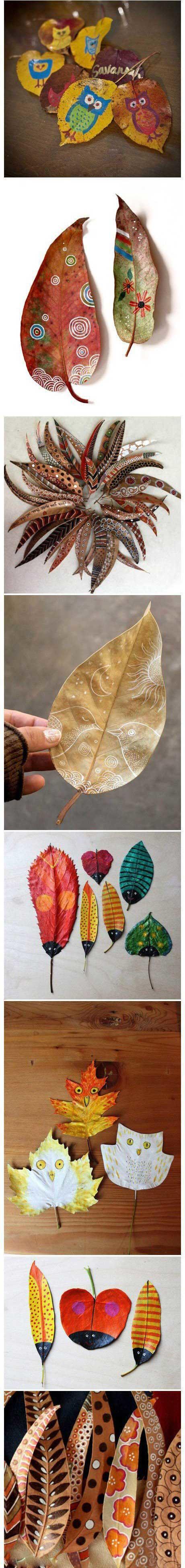 树叶画创意diy手工