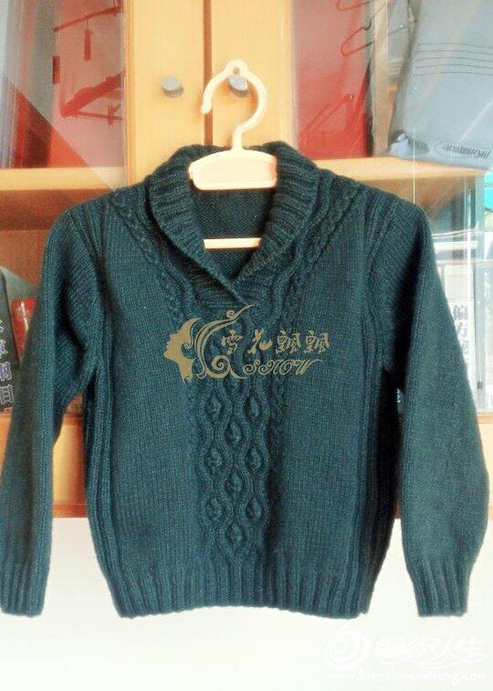 男童青果领毛衣