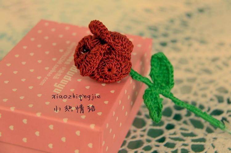 灿若玫瑰 钩针编织玫瑰花教程图解