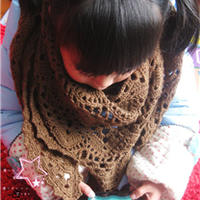 女童钩针编织三角披肩