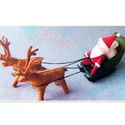 圣诞老人与小鹿的不织布教程