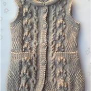 多元 女士棒针编织长款开衫背心教程
