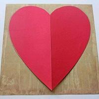 心形图案信封手工折纸教程