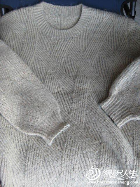 经典棒针男士圆领毛衣