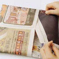 报纸折纸垃圾桶手工折纸