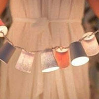 一次性纸杯DIY制作彩灯条