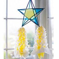 五角星花灯笼手工制作方法