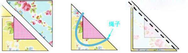 三角形布艺挂袋手工制.-编织人生移动门户