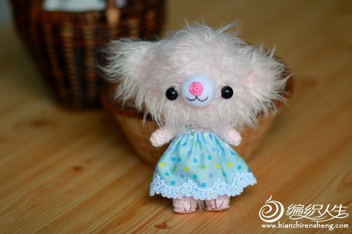钩针日本毛海线小熊玩偶图解教程