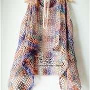 春天里 可做围巾的钩针一片式外搭小披