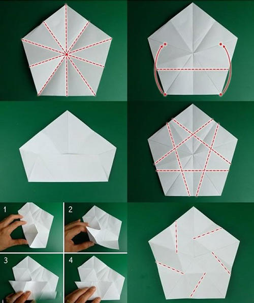 折纸立体五角星的折法