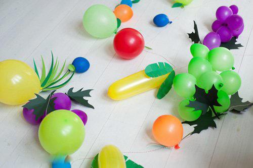 气球 卡纸 创意水果装饰手工