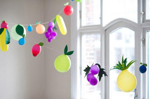 气球+卡纸 创意水果.-编织人生移动门户