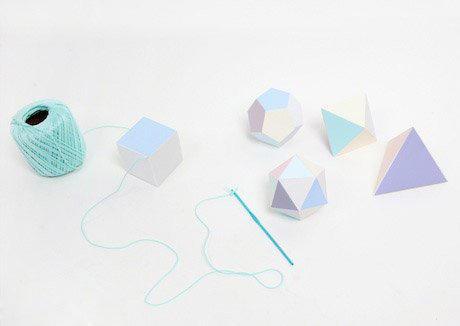 卡纸折纸手工制作立体派对装饰物