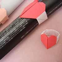手工折纸浪漫心形戒指图解教程