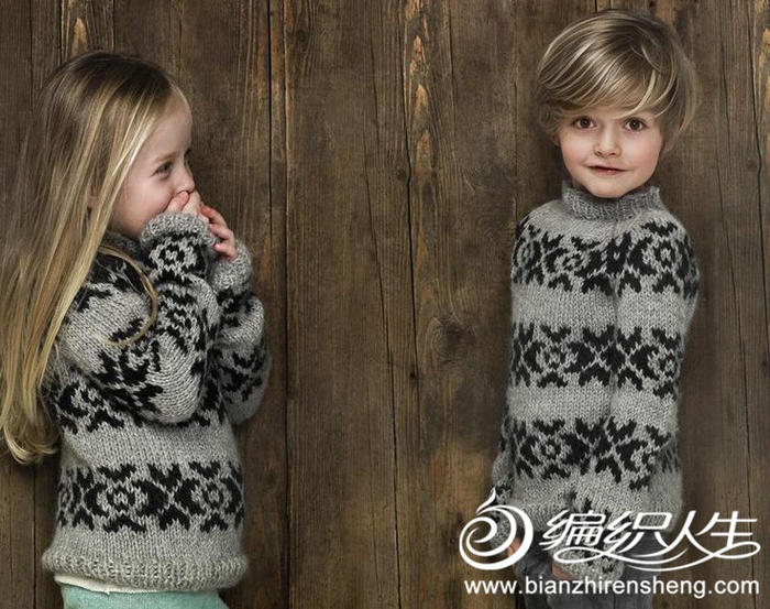 最美是提花 儿童款提花毛衣款式欣赏