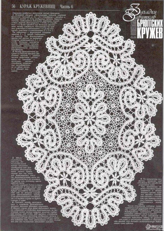 钩针比利时花边蕾丝桌布