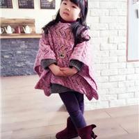 樱花笑 可做盖毯的一片式棒针宝宝斗篷披肩