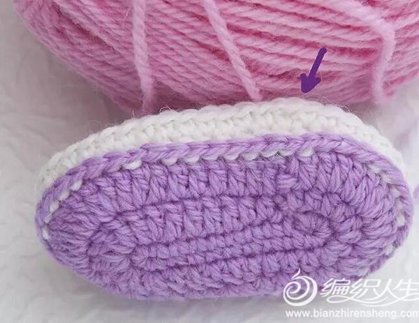 宝宝婴儿鞋的编织方法.-编织人生移动门户