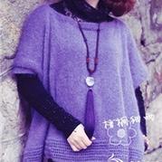 浪漫春裳之扶风 棒针一片式系带套头衫