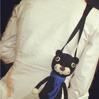 带着小猫一起去购物 钩针小猫背包图解教程