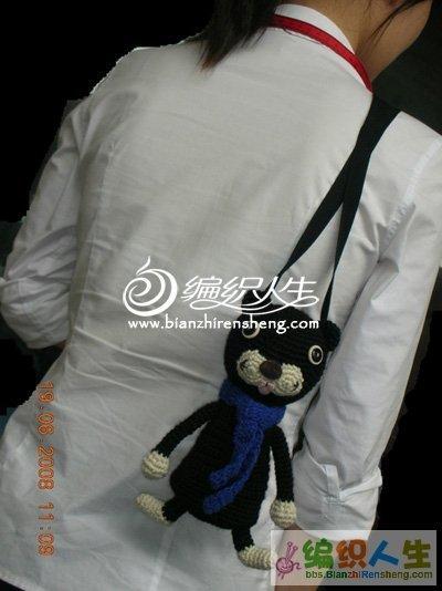 钩针小猫背包