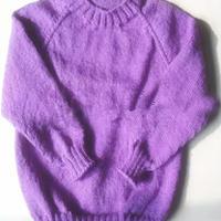 从上往下织插肩圆领宝宝毛衣视频教程