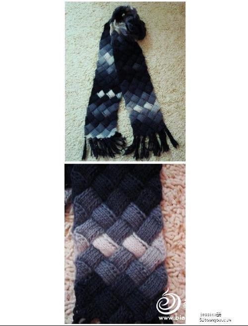 2012年新款时尚围巾编织图案