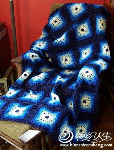 一些国外编织达人的拼花配色作品