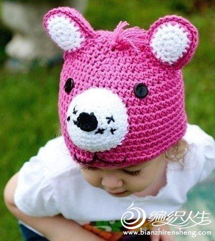 毛线编织宝宝可爱的动物帽子