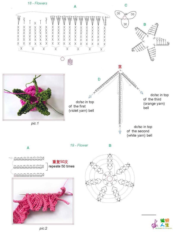 春色满园花竞俏(钩针花卉欣赏)--分解图解4