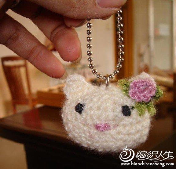 毛线编织KITTY小猫的图解