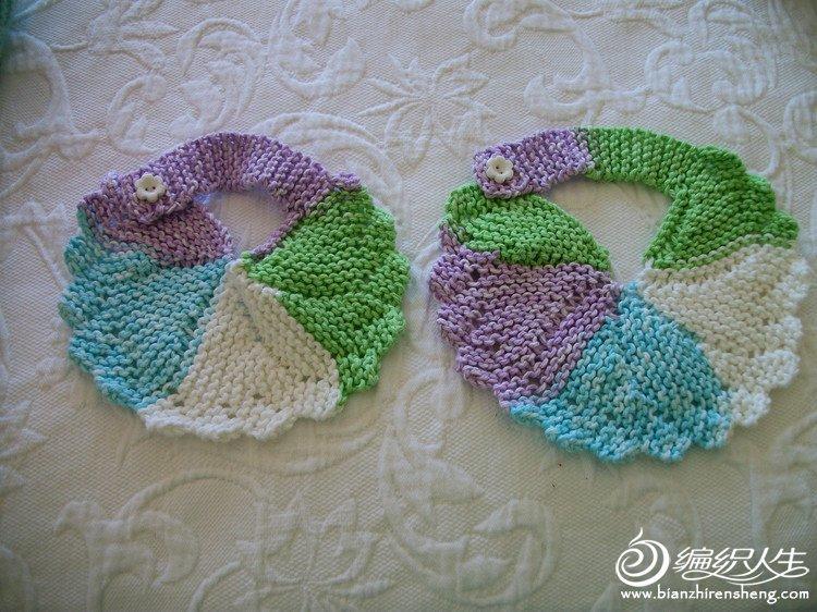 用毛线编织的各种婴儿围嘴图片