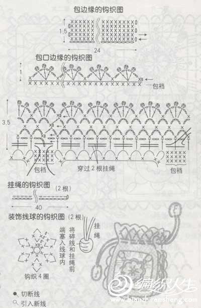 非常漂亮的小装饰包编织教程图解