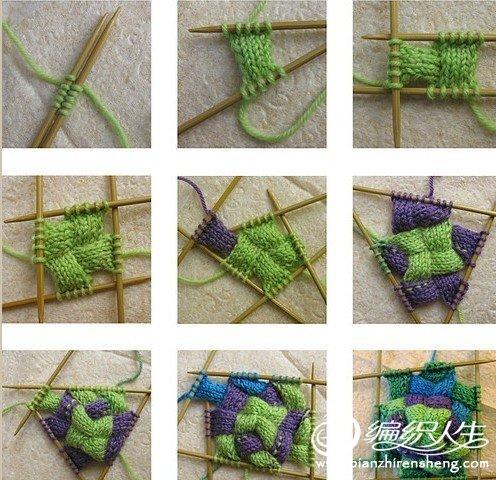 五彩缤纷的多色袜子编织步骤
